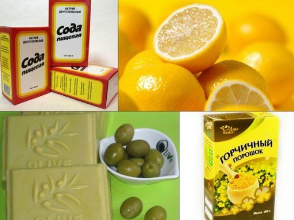 Лимон, цитрусовые, травяные отвары, эфирное масло добавляются для придания аромата