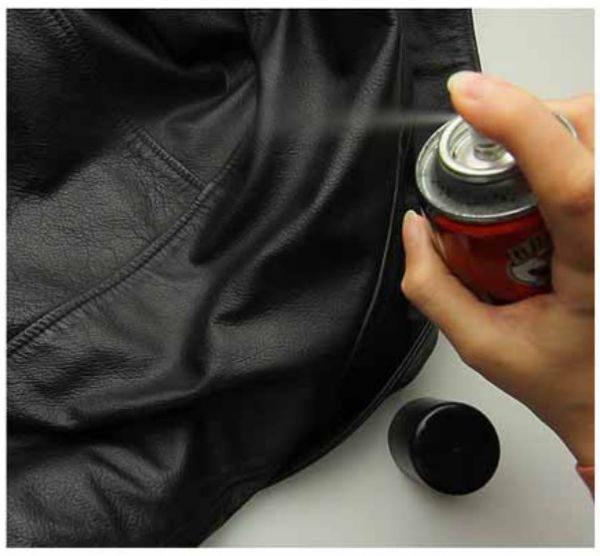 Уход за кожаной курткой также подразумевает периодическую покраску материала