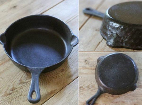 Новые чугунные изделия нуждаются в прокаливании, чтобы при приготовлении пищи в нее не попали вещества, которыми обрабатывают сковороду на заводе