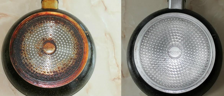 Как почистить сковороду с антипригарным покрытием внутри и снаружи от нагара