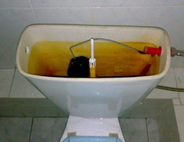 Если бачок давно не мылся, находится в запущенном состоянии, то на помощь придут сильнодействующие вещества