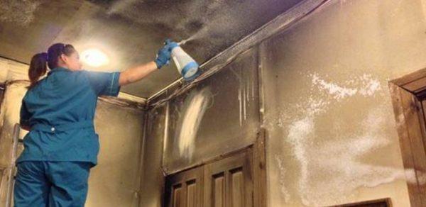 Очистить помещение после пожара помогут профессиональные средства