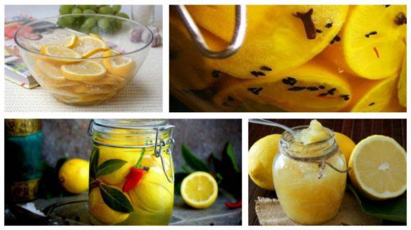 Лимоны с сахаром