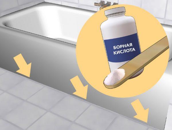 Еще одно достаточно эффективное средство, чтобы быстро избавиться от надоедливой чешуйницы – борная кислота