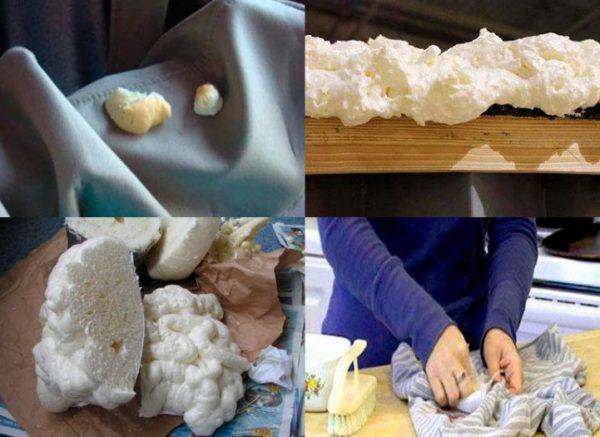 Перед применением любого средства необходимо обработать ткань на маленьком участке
