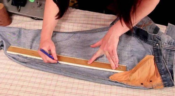 Для ушивки джинс в ногах главное — правильные замеры