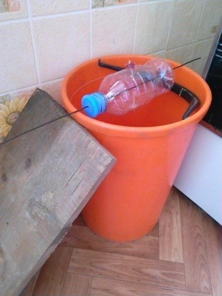 Ловушка из пластиковой бутылки и ведра