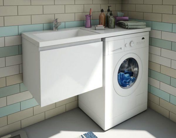 Раковина со столешницей под стиральную машину: лучшие варианты, как выбрать и разместить