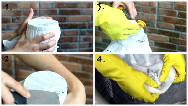 Как убрать герметик с одежды: механическая очистка