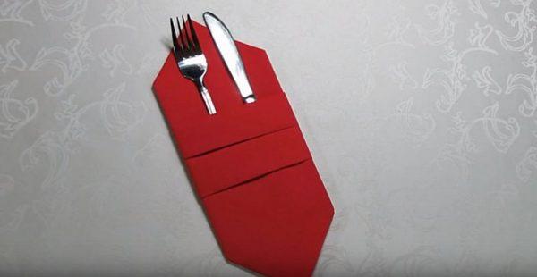 Конверт под карточку или столовые приборы:
