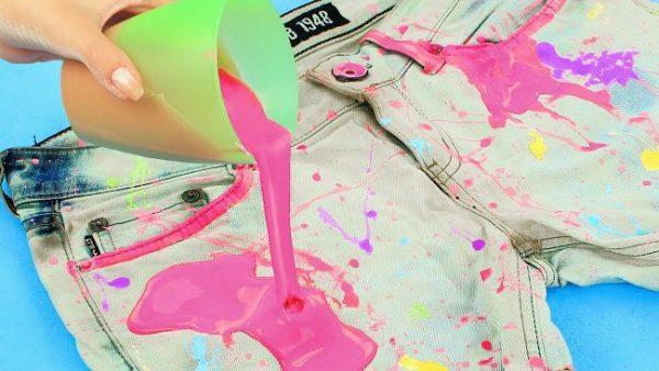 Первая помощь для вещей с пятнами свежей краски