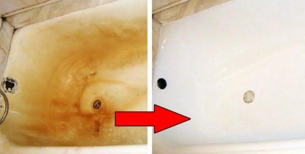 Чем реально отчистить ванну от желтизны и известкового налета в домашних условиях