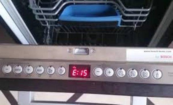 Ошибка E15 в посудомоечной машине Bosch: расшифровка