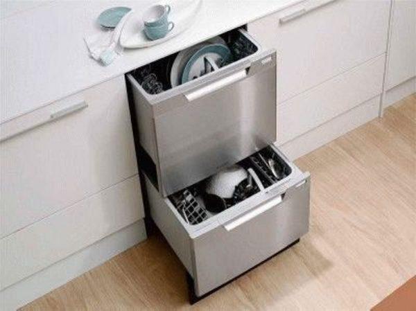 Параметры встраиваемых посудомоечных машин