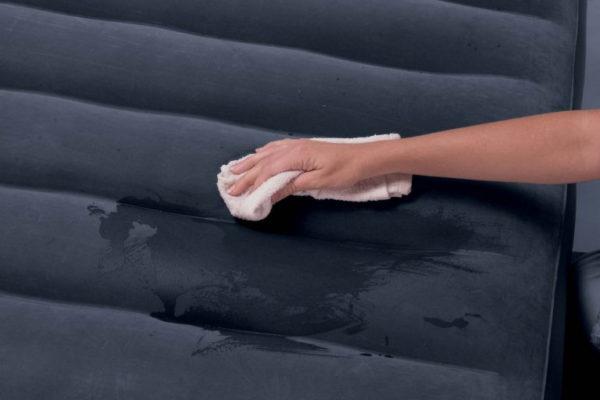 Подготовка поверхности к приложению заплатки